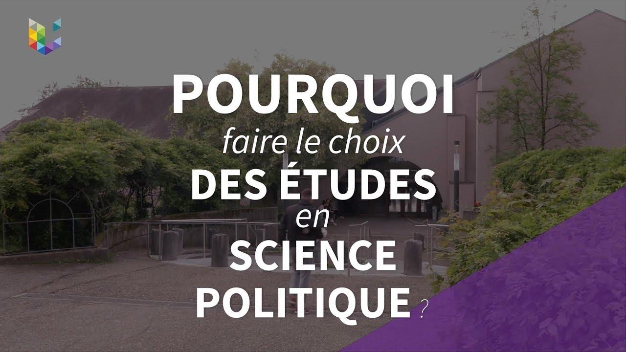 Pourquoi les études politiques ?